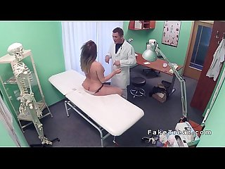 Toned brunette patient fucks doctor