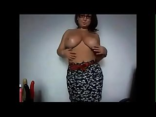 Busty wife teasing on webcam - watch live at www.camsplaza.online