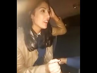 Indian office girl arpita delhi giving blowjob to boss in a car