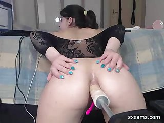 webcam girl get fucked by machine in ass - sxcamz.com