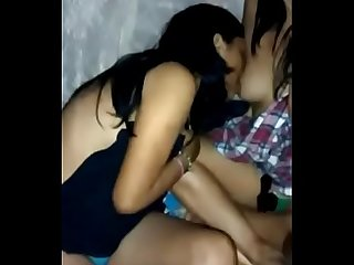 Indian Desi Girl Ayesha Boobs Sucking By His Lesbian Friend