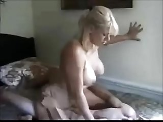 Amateur milf with younger virgin boy