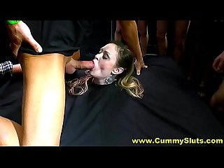 Hot German Cumwhore Loves To Swallow Jizz