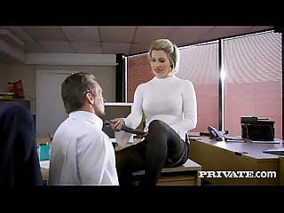 Private com british babe Sienna day fucks her boss