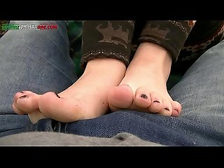 Ui011 in the country with leila amateur foot worship