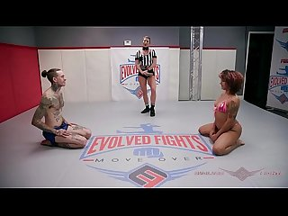 Daisy ducati and ruckus get down comma dirty comma and fuck on the wrestling mat
