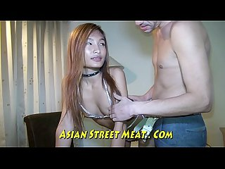Aspiring asian Actress smiles and fucks