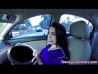 Real teen banged car cash