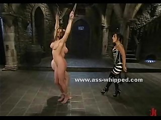Mistress clamps a whore clit