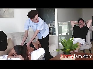 Son ceases the opportunity to fuck his busty stepmom