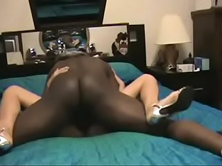 Husband films asian wife fucking with bbc in their house