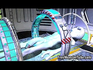 Hot 3d redhead babe sucks and fucks a horny alien