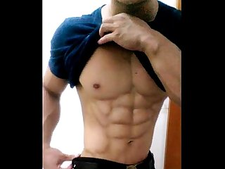 china chinese gay muscle guy young man amateur selfie solo wank jerking.off 中�?� �?�??..