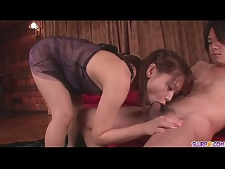 A hot asian girl gives blow job before Maika gets a facial - More at Slurpjp.com