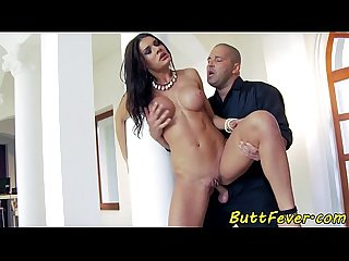 Busty eurobabe assfucked in highheels