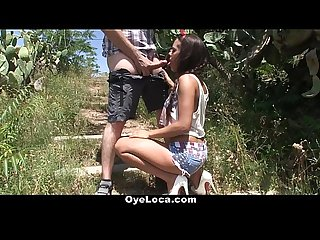 Oyeloca gala brown gets fucked outdoors