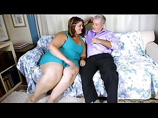 Beautiful big tits BBW loves fucking and sucking cock