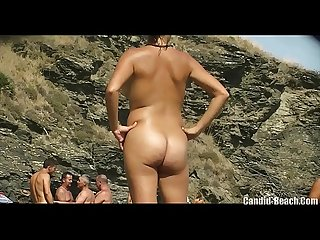 Sweaty wet pussy nudist milfs tanning beach voyeur hd video