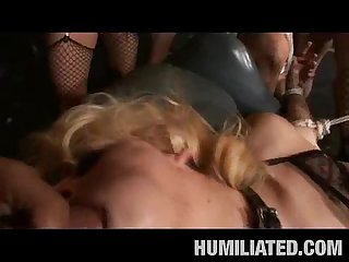 Cum humiliated bound sluts