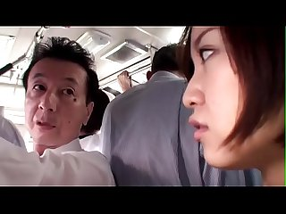 Japanese wife gets abused on the bus full xfoxxx com