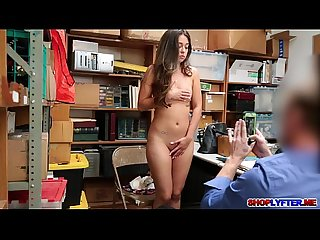 Shane blair left naked with sperm on her ass in office