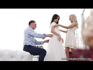 Young sex parties dress fitting and a threeway stefy shee michelle can