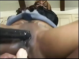 Friendly pussy licking for three african lesbians