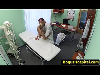 Flexible teen medical students threeway fun
