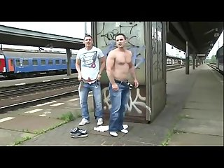 Bareback fucking at the Bus stop