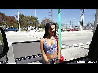 Latina nikki kay is all about her money on the bang bus bb15058