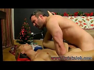 Gay twink porn tubes Patrick Kennedy catches hunky muscle boy Santa
