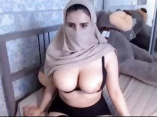 Sexy hijab girl in webcam