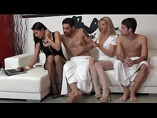 Live foursome with Sofia cucci and lara de santis