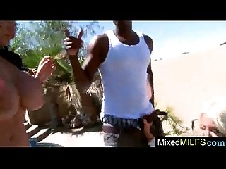 Mamba Black Dick Fill Wet Holes Of Mature Lady (angelina hellie) movie-03