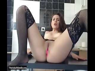 Shaking Orgasm with Vibrator in Pussy