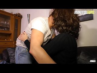 AMATEUR EURO - German Cheating Wife Fucks On Couch With The Best Buddy Of Her Husband