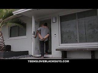 Blonde Teen Loves Black Guys