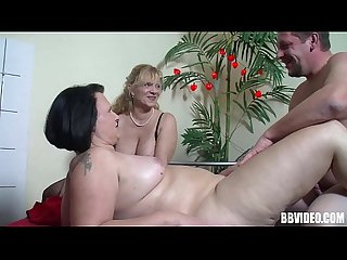 Fat german whore gets fucked in threesome