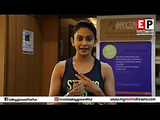 Rakul preet singh hot workout exotic playground