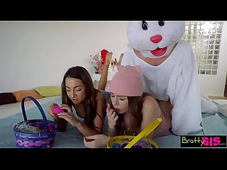 Easter egg hunt gets bunny fucked by hot bff and stepsis excl s4 colon e10