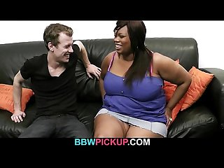 Black bbw riding white dick