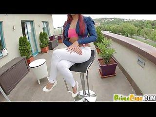 Primecups nanny sexy redhead uses a dildo on herself