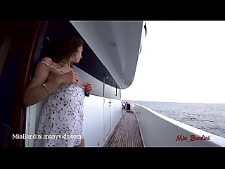Passionate real fuck on boat with horny amateur couple mia bandini