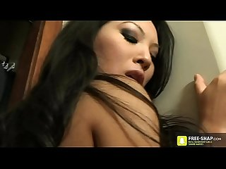 Hot two Japanese Asian pornstar love to lick pussy and blowjob big cock