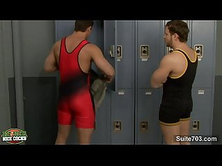 Sexy jock suck and fuck a large dick