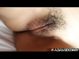 Asian Sex Diary - Innocent looking Filipina sucks cock for facial
