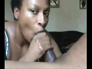 Ebony bitch sucking it