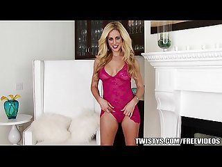 Cherie devillie loves to talk dirty as she fingers herself on the couch