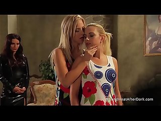 Mistress and handmaiden maid undresses new teen slave