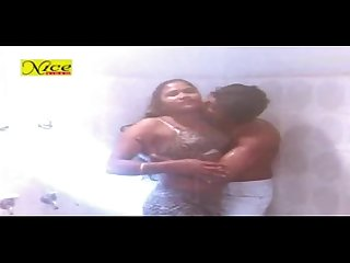 long hair old movie romance in bathroom